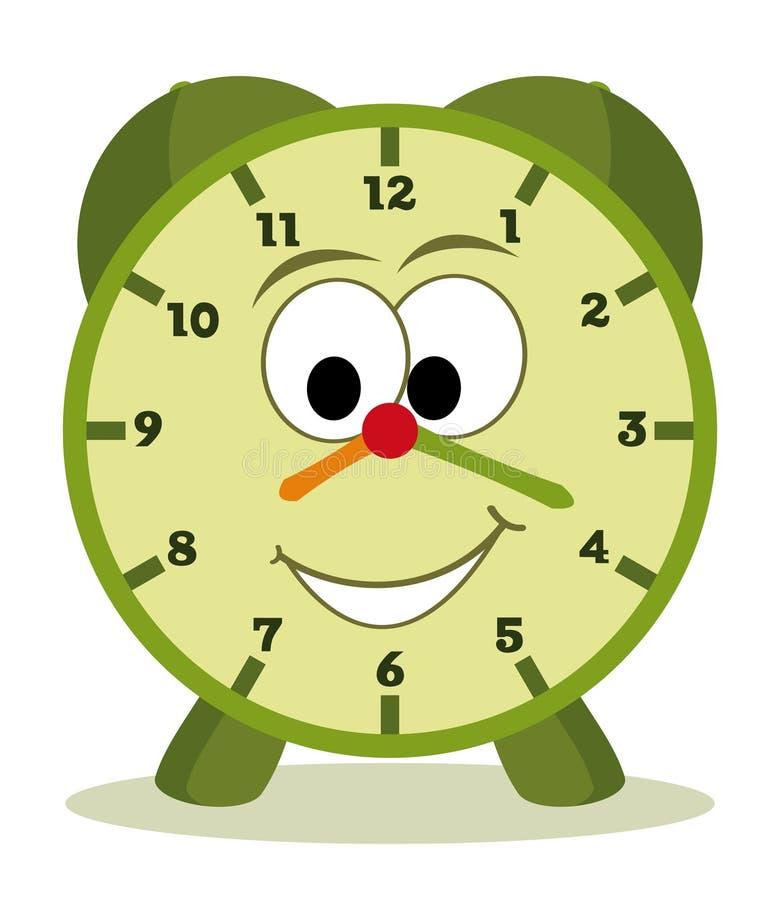 Reloj de la historieta stock de ilustración