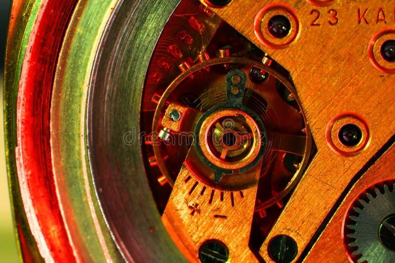 Reloj de la máquina de la parte fotos de archivo libres de regalías