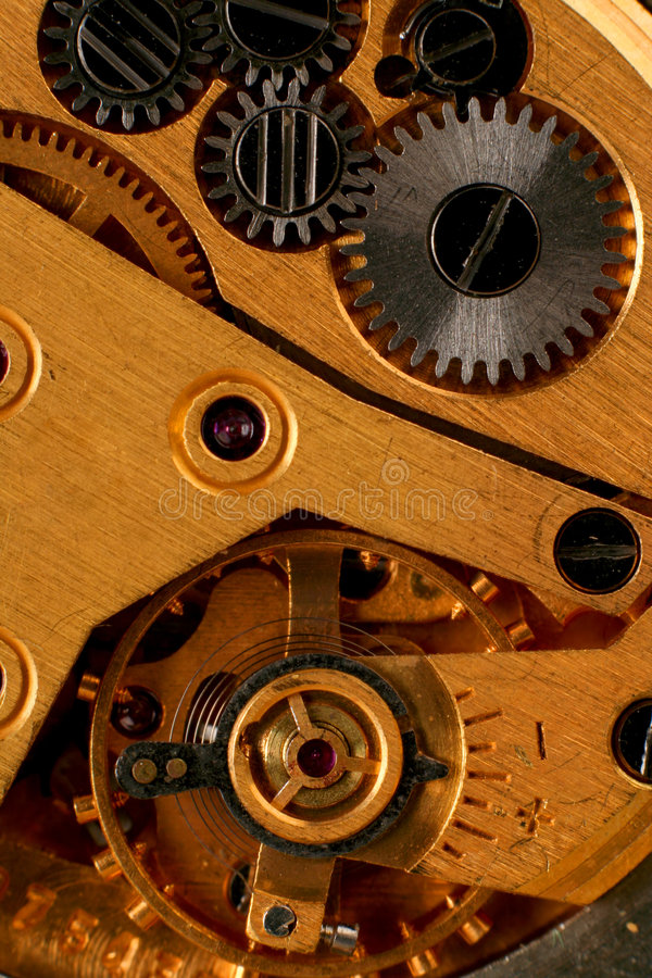 Reloj de la máquina de la parte imágenes de archivo libres de regalías