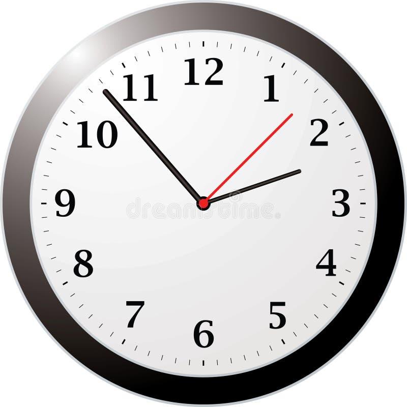Reloj de la oficina libre illustration