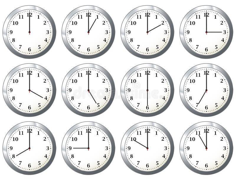 Reloj de la oficina todas las veces stock de ilustración