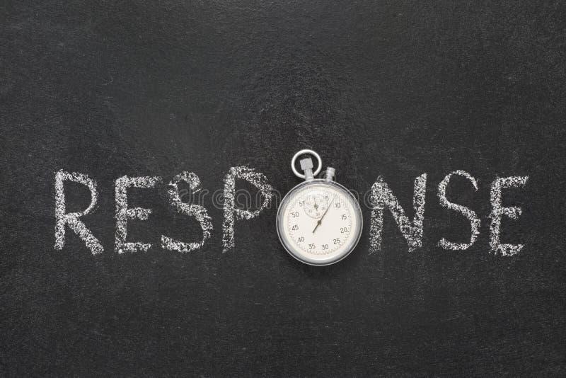 Reloj de la palabra de la respuesta fotografía de archivo libre de regalías
