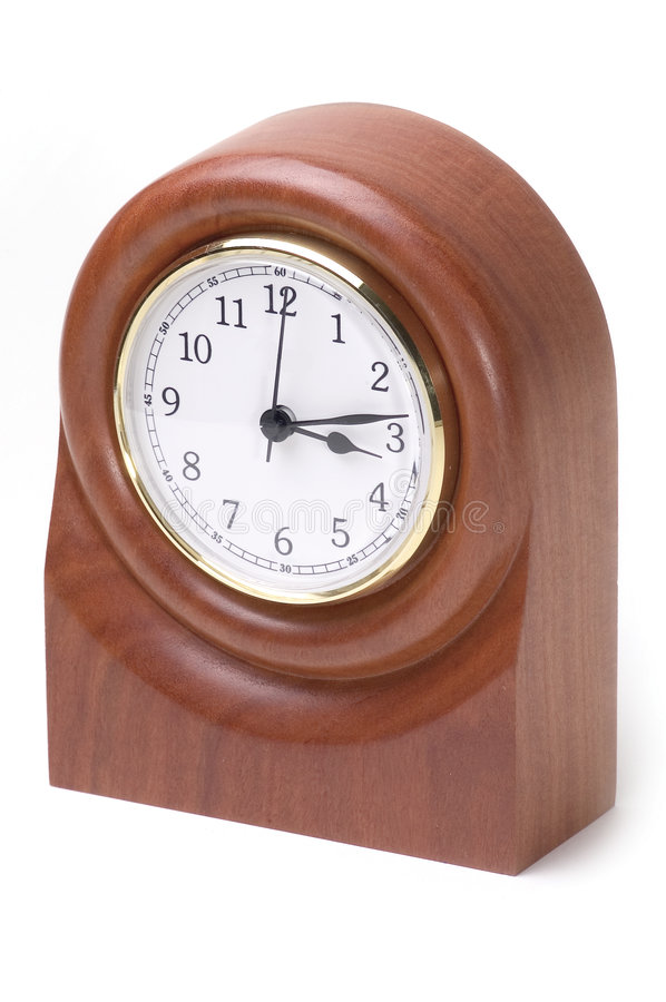 Reloj de madera fotografía de archivo libre de regalías