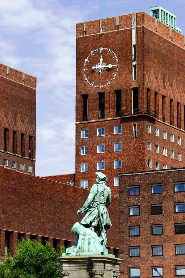 Reloj de Oslo fotos de archivo