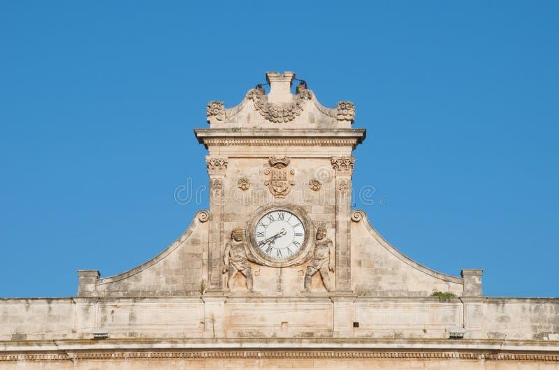 Reloj de Ostuni fotos de archivo libres de regalías