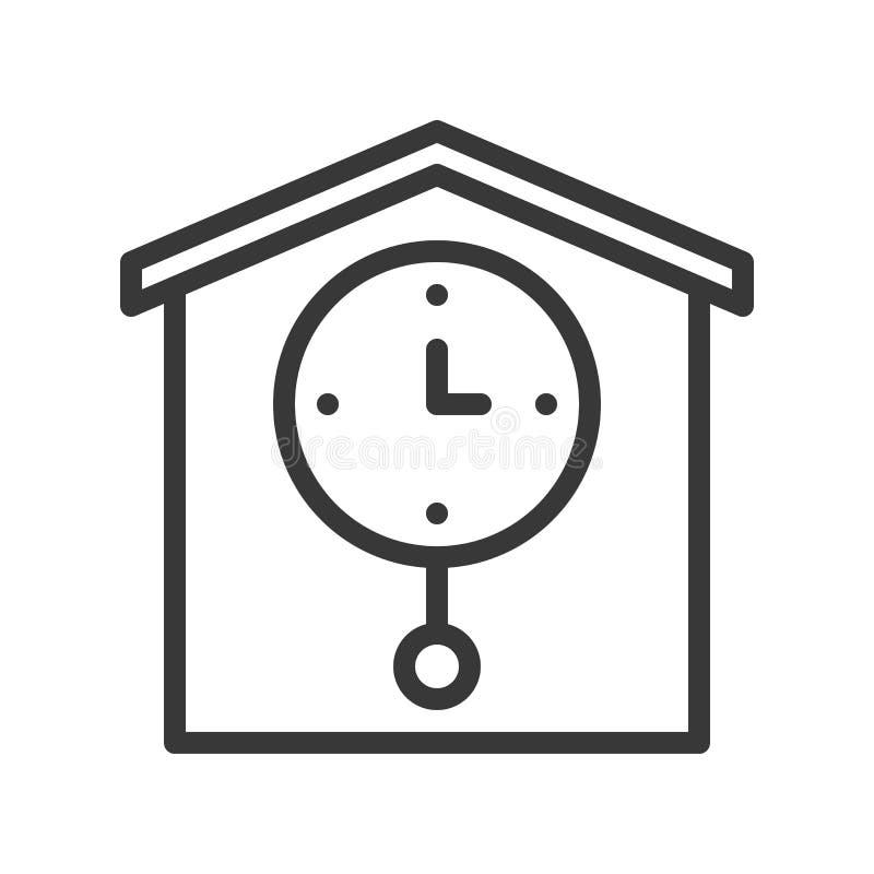 Reloj de péndulo, strok editable del icono del pixel del diseño perfecto del esquema libre illustration