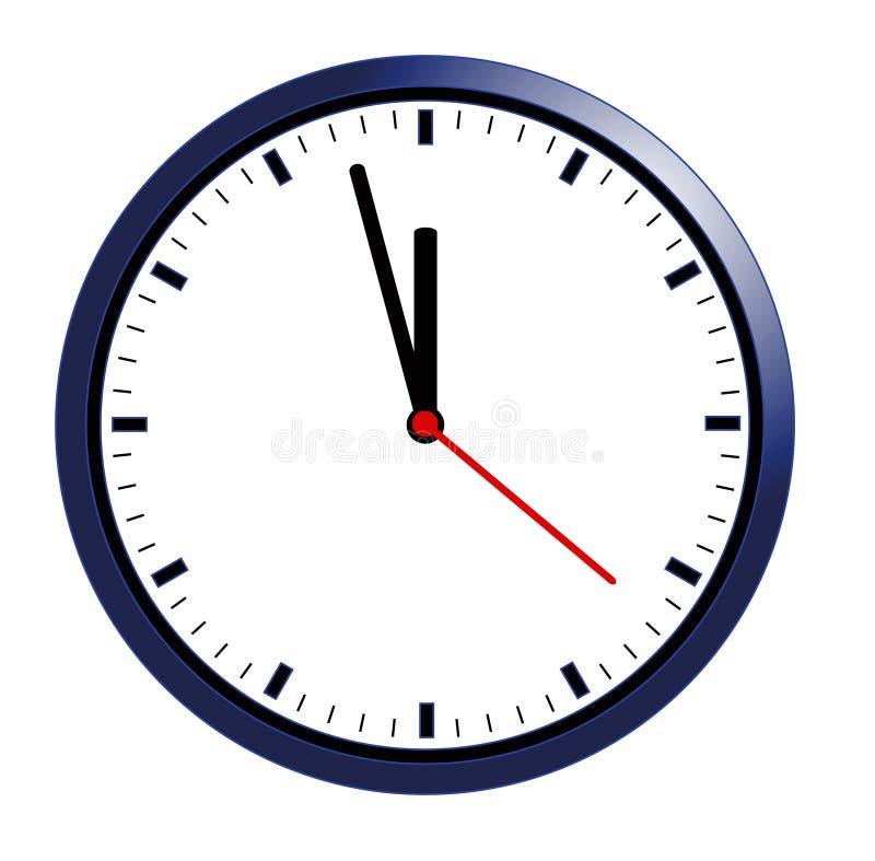 Reloj de pared ilustración del vector