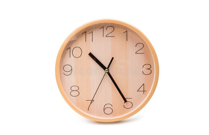 Reloj de pared aislado foto de archivo