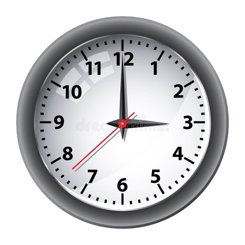 Reloj de pared de la oficina imagen de archivo libre de regalías