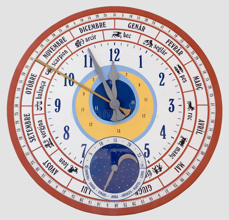 Reloj De Pared Gigante Del Calendario Foto de archivo - Imagen de ...