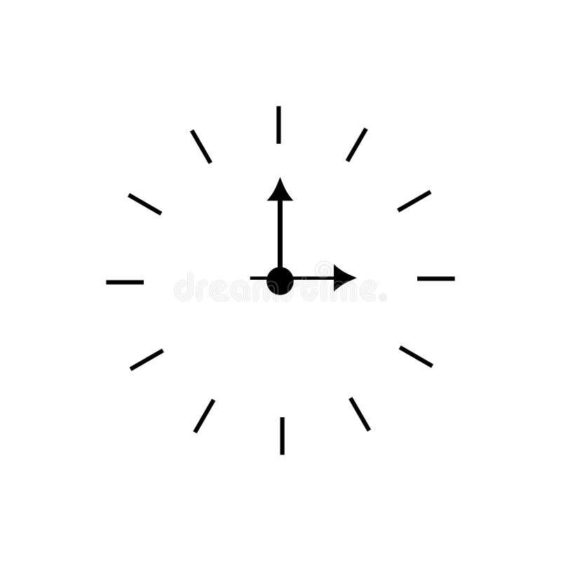 Reloj de pared redondo blanco y negro clásico simple del vector Ilustraci?n del vector - El fichero del vector ilustración del vector