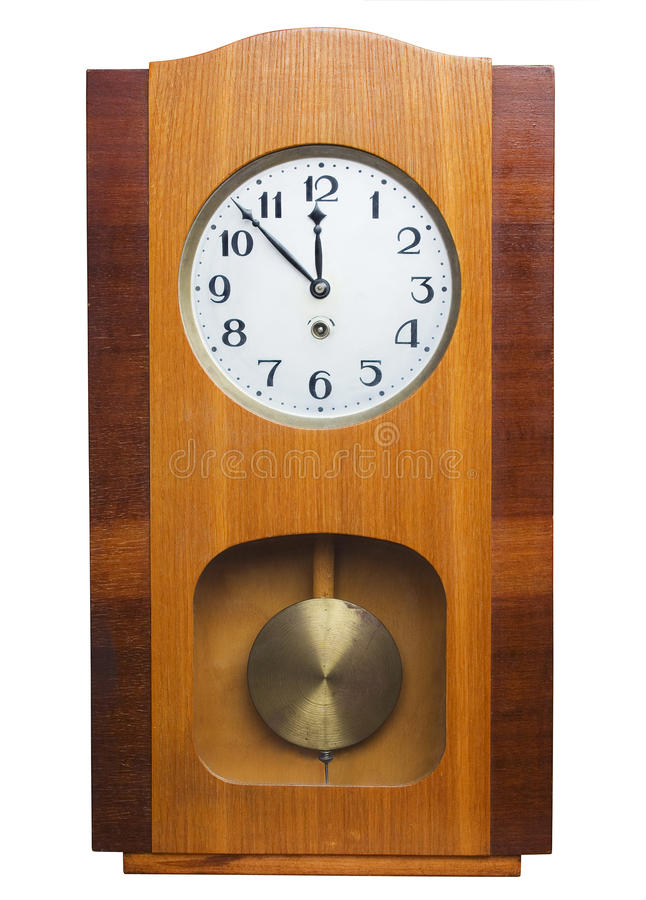 Reloj de pared viejo foto de archivo