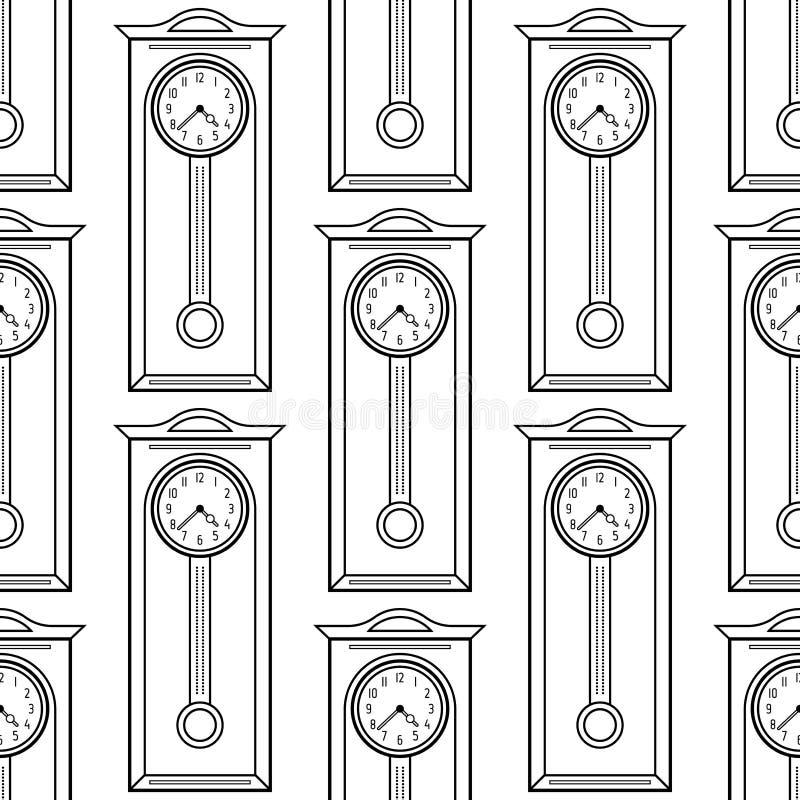 Reloj De Pie Modelo Inconsútil Blanco Y Negro Para Los Libros De ...