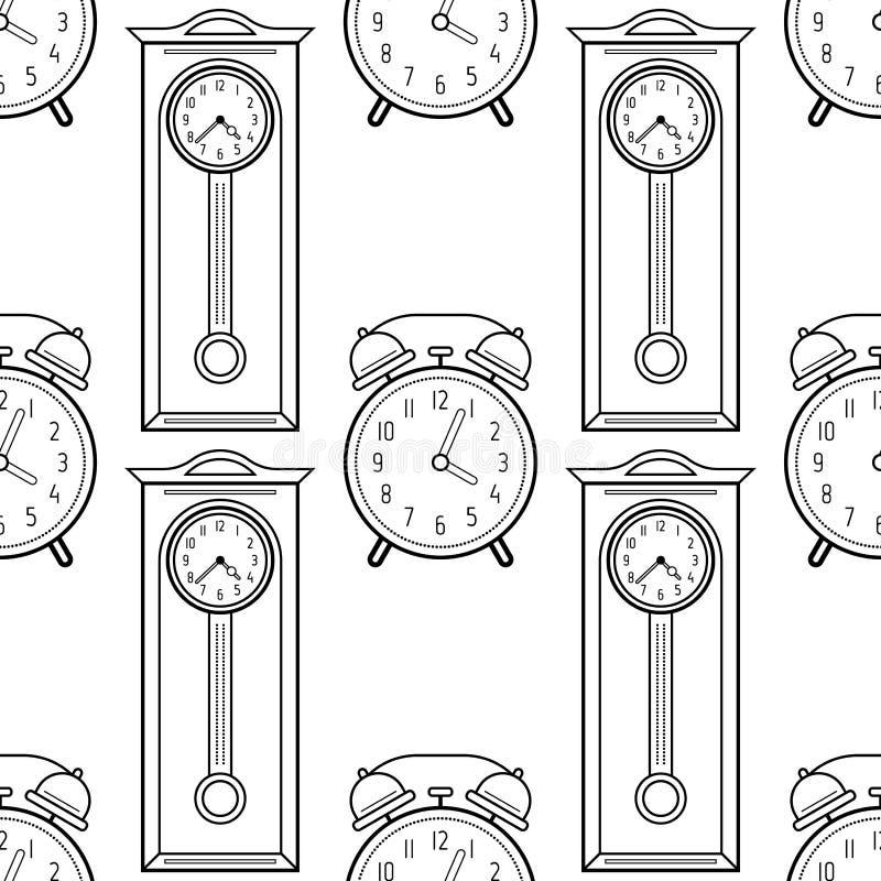 Reloj De Pie Y Despertador Modelo Inconsútil Blanco Y Negro Para Los ...