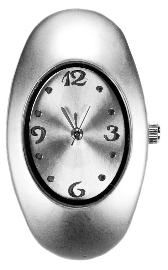 Reloj de plata foto de archivo