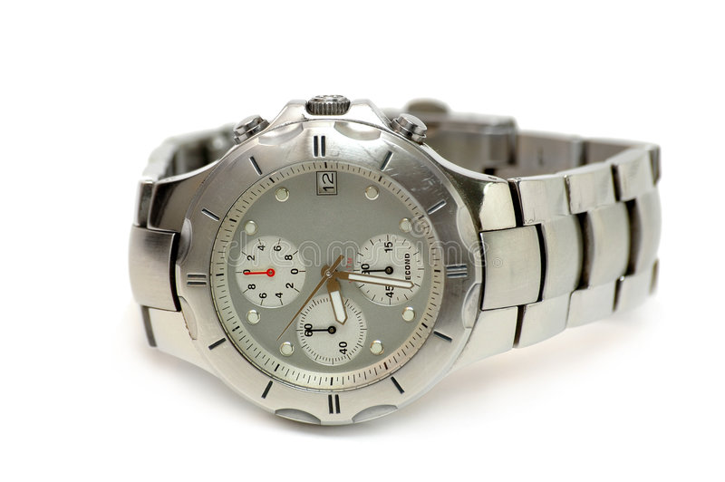 Reloj de plata fotos de archivo