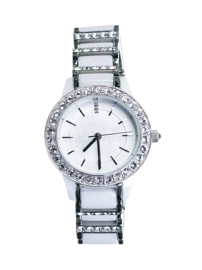Reloj de señoras blanco fotografía de archivo libre de regalías