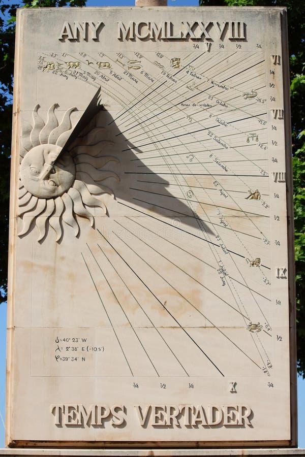 Reloj de sol imágenes de archivo libres de regalías