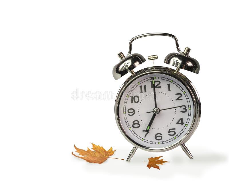 Reloj de tiempo de Autum las siete imagen de archivo libre de regalías