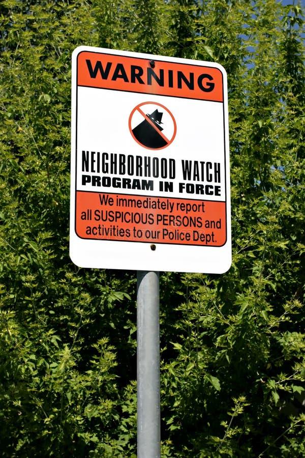 Reloj de vecindad fotos de archivo