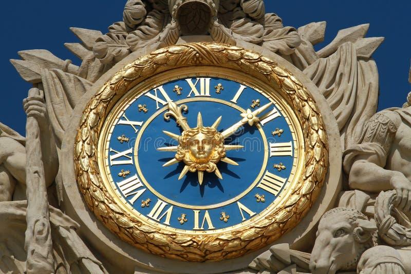 Reloj de Versalles imágenes de archivo libres de regalías