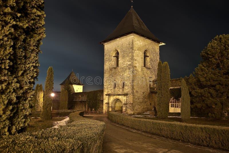 Reloj defensivo de la torre - Cetatuia - Iasi - Rumania imagen de archivo