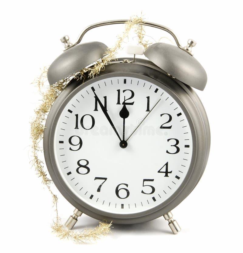 Reloj del Año Nuevo foto de archivo libre de regalías