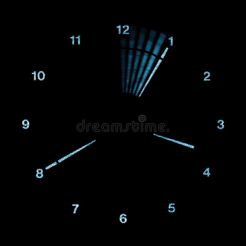 Reloj del análogo de Digitaces LED fotos de archivo libres de regalías