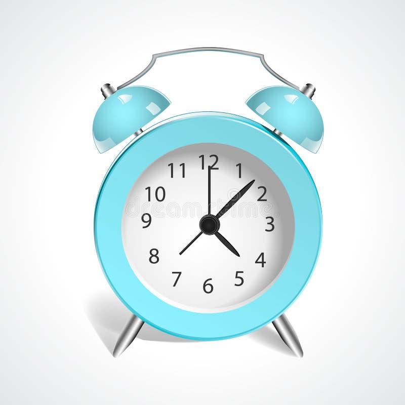 Reloj del azul del vintage foto de archivo