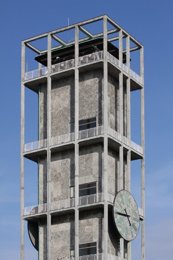 Reloj del ciudad-pasillo de Aarhus imagenes de archivo