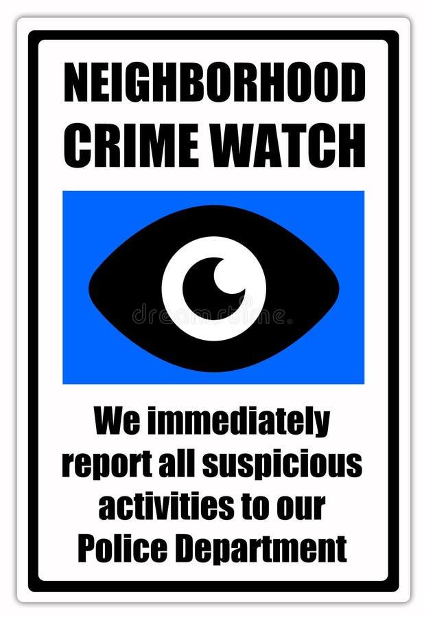 Reloj del crimen ilustración del vector