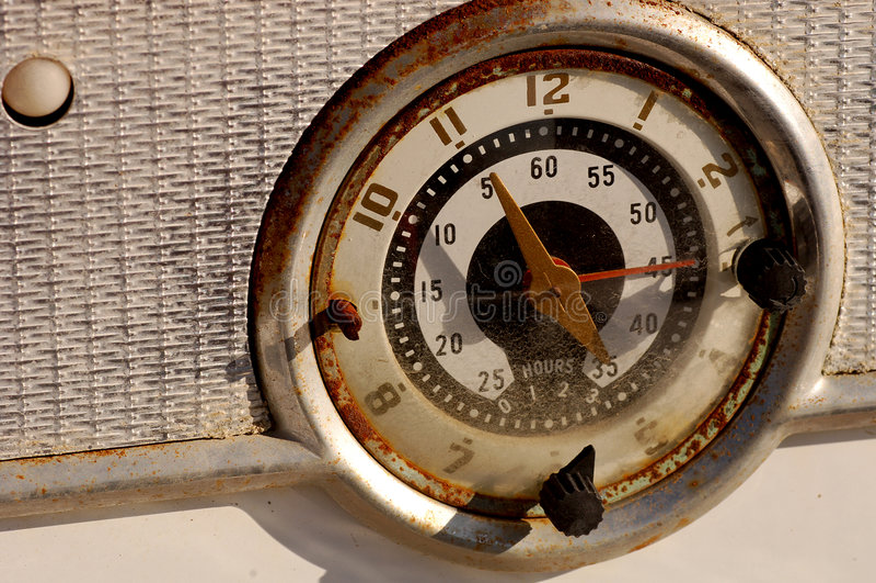 Reloj del horno imágenes de archivo libres de regalías