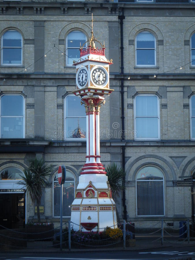 Reloj del jubileo en la isla del hombre fotografía de archivo