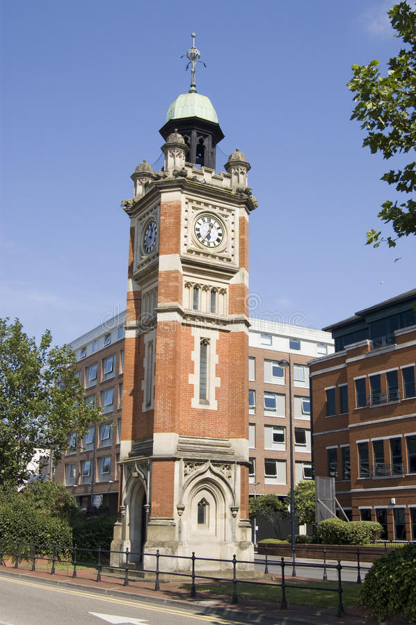 Reloj del jubileo, Maidenhead imagen de archivo