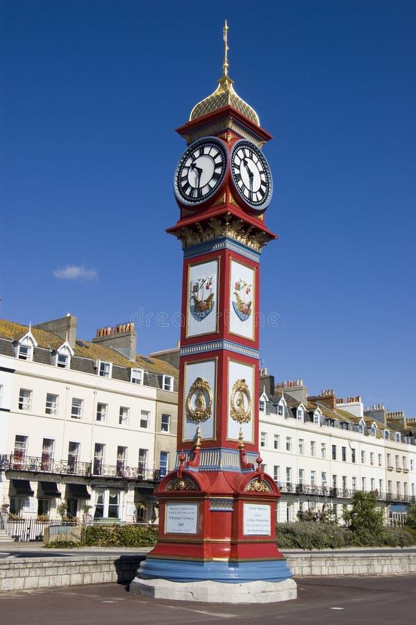 Reloj del jubileo, Weymouth imagenes de archivo