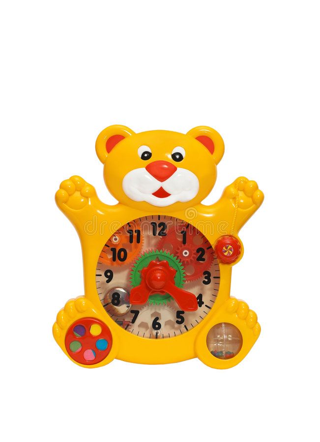 Reloj del juguete imagen de archivo libre de regalías