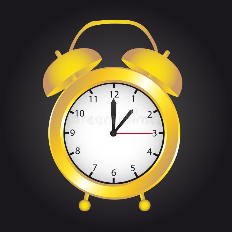 Reloj del oro stock de ilustración