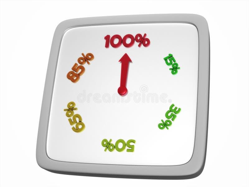 Download Reloj del por ciento stock de ilustración. Ilustración de descriptivo - 7284821