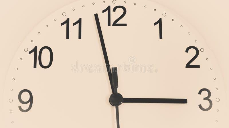 Download Reloj Del Primer Que Hace Tictac Mostrando Tres Horas Imagen de archivo - Imagen de tarde, dial: 100534543