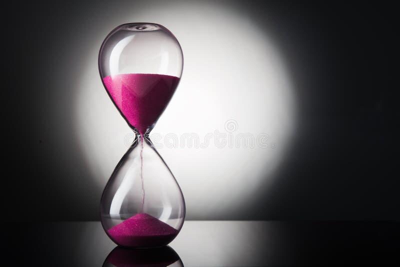 Reloj del reloj de arena imagenes de archivo