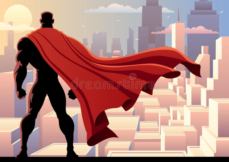Reloj 2 del super héroe stock de ilustración