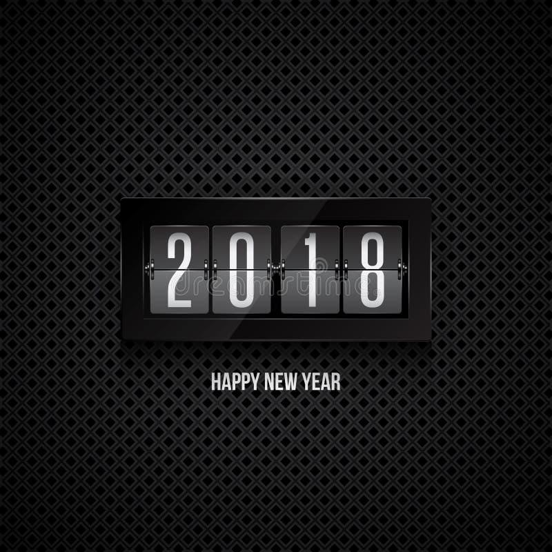 Reloj del tirón de la Feliz Año Nuevo 2018 libre illustration