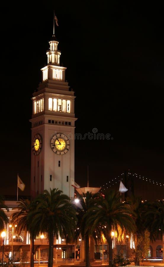 Reloj del transbordador de San Francisco foto de archivo
