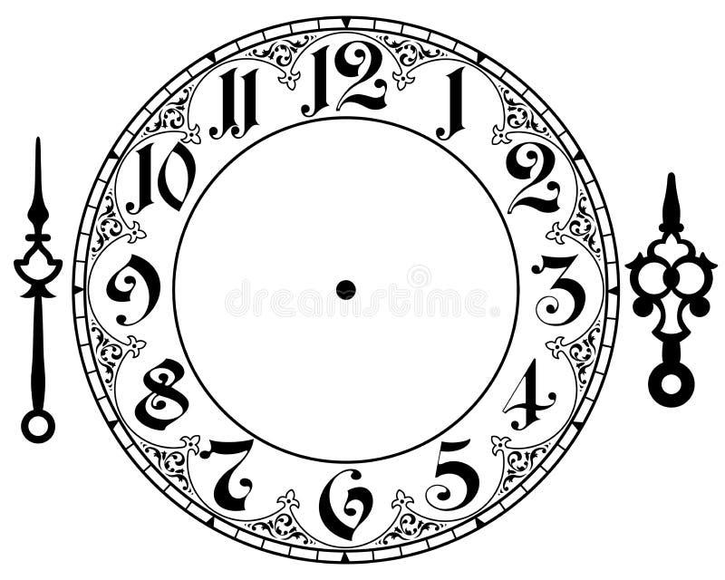 Reloj del vintage del vector imágenes de archivo libres de regalías