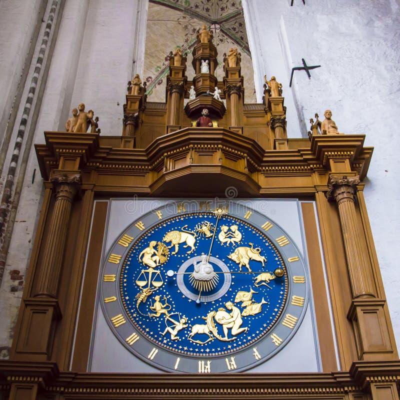Reloj del zodiaco fotografía de archivo