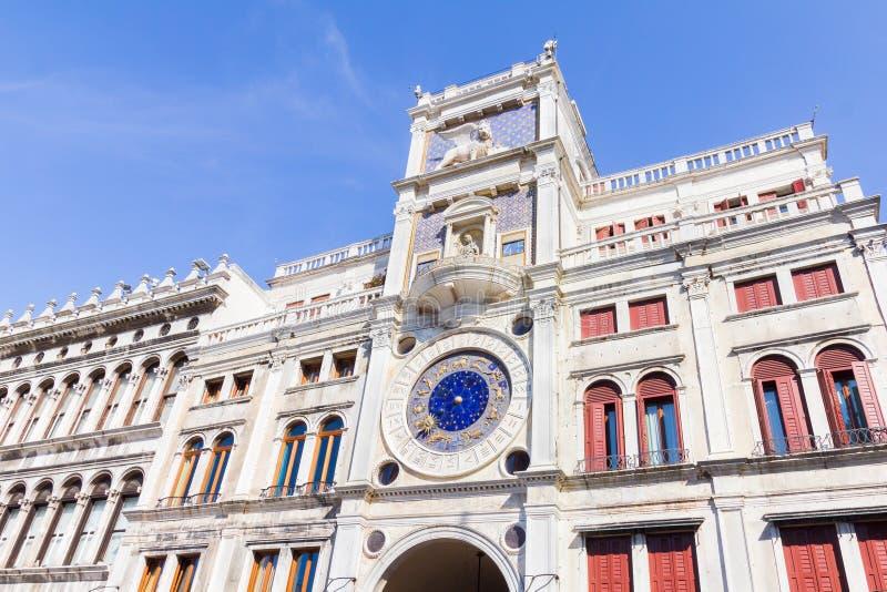 Reloj del zodiaco en Venecia, Italia imagenes de archivo