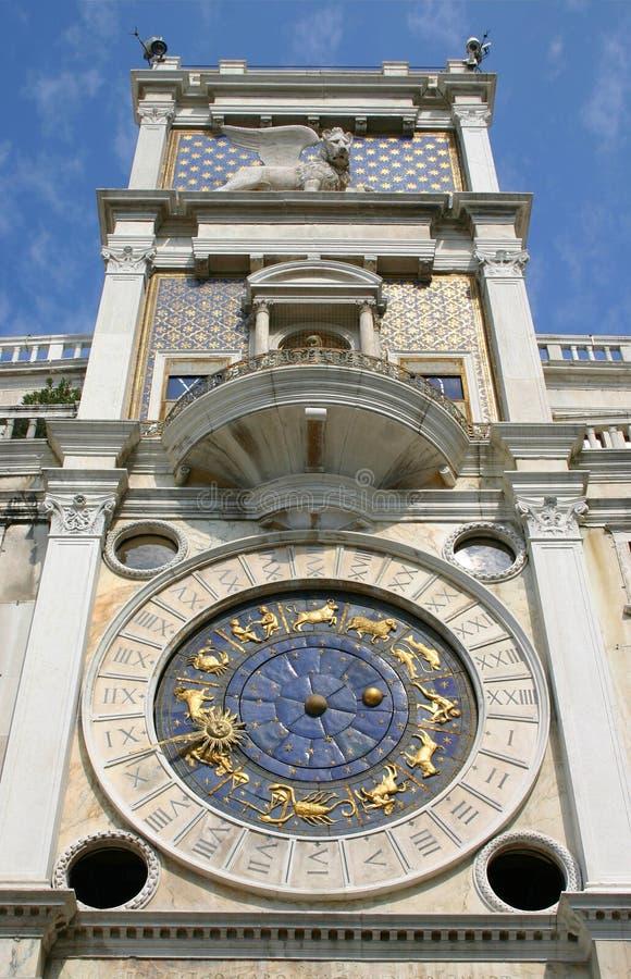 Reloj del zodiaco, Venecia, Italia foto de archivo libre de regalías