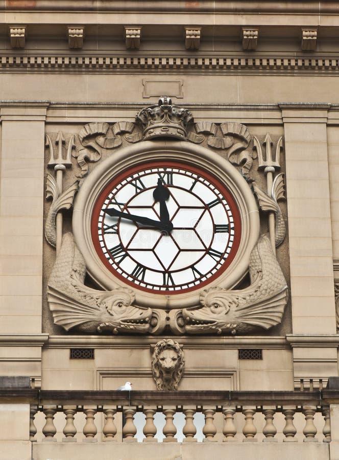 Reloj - detalle del edificio de aduanas de Sydney fotografía de archivo