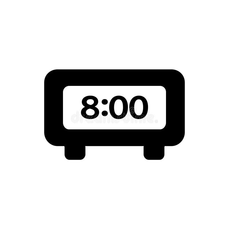 Reloj electrónico 8 horas stock de ilustración