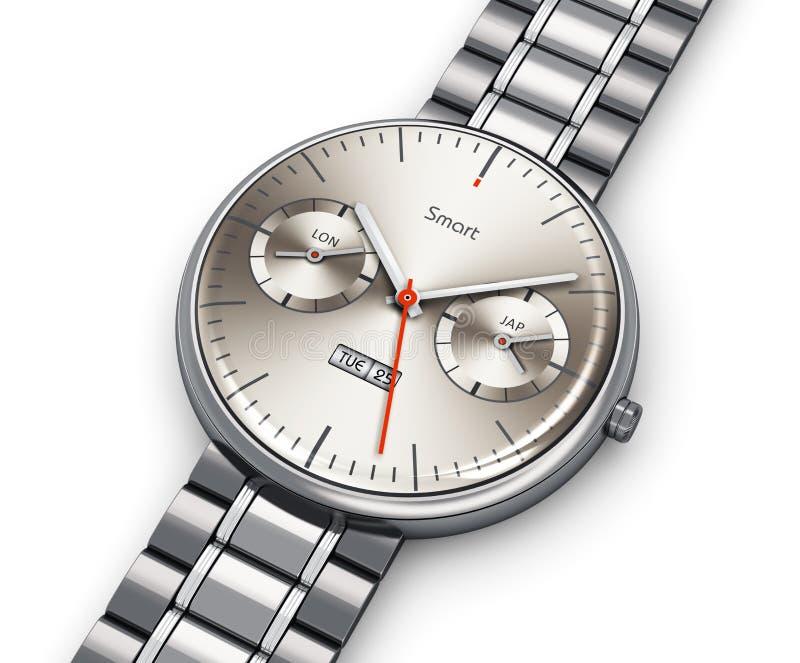 Reloj elegante de lujo del acero inoxidable libre illustration